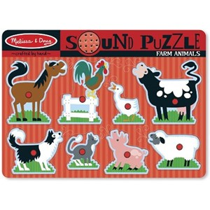 "Melissa and Doug (10726) - ""Farm Animals, Sound Puzzle"" - 8 pièces"