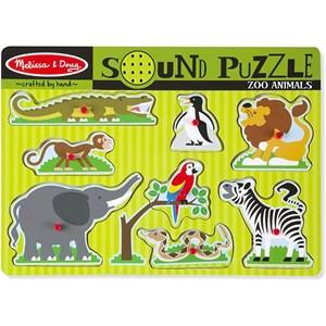 "Melissa and Doug (10727) - ""Zoo Animals, Sound Puzzle"" - 9 pièces"