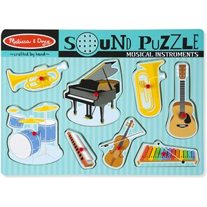 "Melissa and Doug (10732) - ""Musical Instruments, Sound Puzzle"" - 7 pièces"