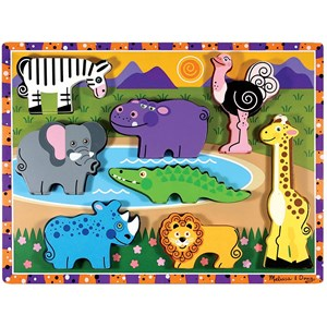 "Melissa and Doug (13722) - ""Safari"" - 8 pièces"