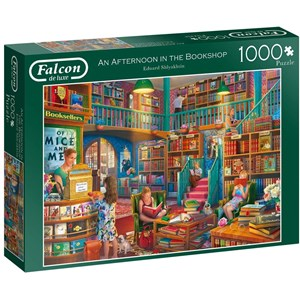 "Falcon (11267) - Eduard Shlyakhtin: ""Afternoon at The Bookshop"" - 1000 pièces"