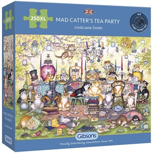 """Gibsons (G2717) - Linda Jane Smith: """"Mad Catter's Tea Party"""" - 250 pièces"""