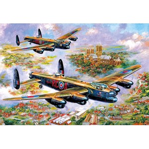 """Gibsons (G3113) - Jim Mitchell: """"Lancasters Over Lincoln"""" - 500 pièces"""