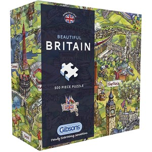 """Gibsons (G3430) - """"Beautiful Britain"""" - 500 pièces"""