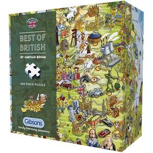 "Gibsons (G3431) - Hartwig Braun: ""Best of British"" - 500 pièces"