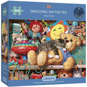 """Gibsons (G6281) - Steve Read: """"Snoozing on the Ted"""" - 1000 pièces"""