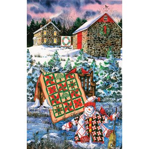 "SunsOut (14634) - Diane Phalen: ""A Christmas Cheer Quilt"" - 1000 pièces"