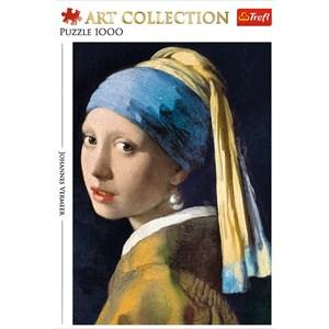 """Trefl (10522) - Johannes Vermeer: """"La Jeune Fille à la Perle"""" - 1000 pièces"""