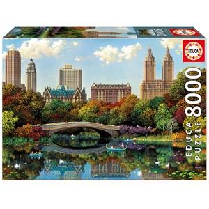 """Educa (17136) - Alexander Chen: """"Central Park Bow Bridge"""" - 8000 pièces"""