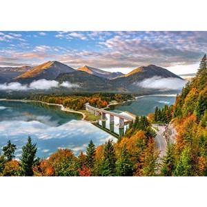 """Castorland (B-53353) - """"Lever du soleil sur le lac Sylvenstein"""" - 500 pièces"""