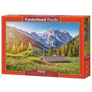 """Castorland (B-53360) - """"Eté dans les Alpes"""" - 500 pièces"""