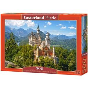 """Castorland (B-53544) - """"Vue sur le château de Neuschwanstein, Allemagne"""" - 500 pièces"""