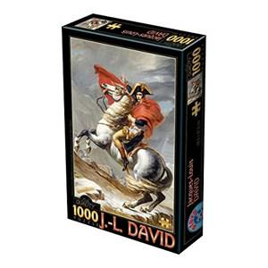 """D-Toys (72719-1) - Jacques-Louis David: """"Napoléon Bonaparte franchissant les Alpes"""" - 1000 pièces"""