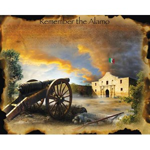 """SunsOut (67952) - Jim Todd: """"Remember the Alamo"""" - 1000 pièces"""