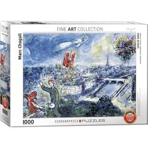 """Eurographics (6000-0850) - Marc Chagall: """"Le Bouquet de Paris"""" - 1000 pièces"""