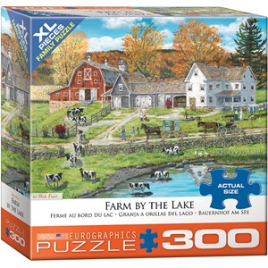 "Eurographics (8300-5382) - Bob Fair: ""Ferme au Bord du Lac de Bob Fair"" - 300 pièces"