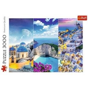 "Trefl (33073) - ""Vacances en Grèce"" - 3000 pièces"