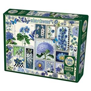"Cobble Hill (80043) - Barbara Behr: ""Blue Flowers"" - 1000 pièces"