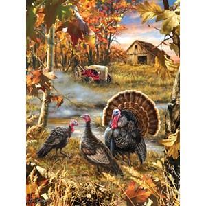 """SunsOut (57168) - Dona Gelsinger: """"Turkey Ranch"""" - 1000 pièces"""