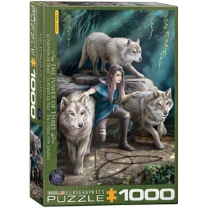 """Eurographics (6000-5476) - Anne Stokes: """"The Power of Three"""" - 1000 pièces"""