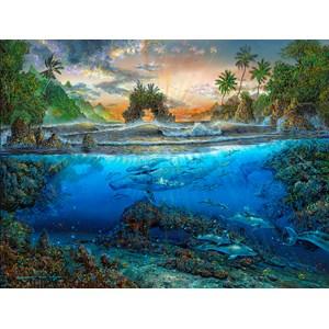 """SunsOut (80168) - Robert Lyn Nelson: """"Secret Cove"""" - 500 pièces"""