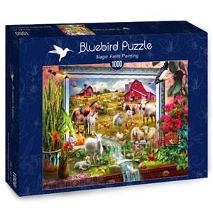 "Bluebird Puzzle (70029) - Jan Patrik Krasny: ""Magic Farm Painting"" - 1000 pièces"