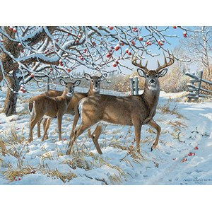 """Cobble Hill (57196) - Persis Clayton Weirs: """"Winter Deer"""" - 1000 pièces"""