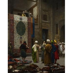 """D-Toys (72726) - Jean-Leon Gerome: """"Marchand de tapis au Caire, 1887"""" - 1000 pièces"""