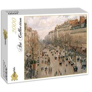 """Grafika (00512) - Camille Pissarro: """"Boulevard Montmartre, 1897"""" - 2000 pièces"""