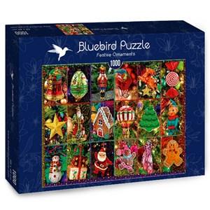 """Bluebird Puzzle (70325) - """"Festive Ornaments"""" - 1000 pièces"""