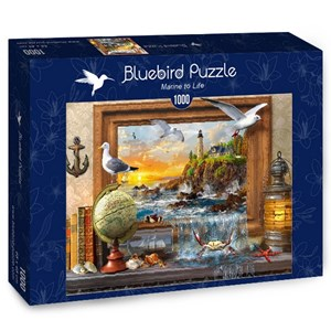 "Bluebird Puzzle (70346) - Dominic Davison: ""Marine to Life"" - 1000 pièces"