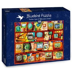 """Bluebird Puzzle (70330) - Steve Crisp: """"Golden Age of Television-Shelf"""" - 1000 pièces"""