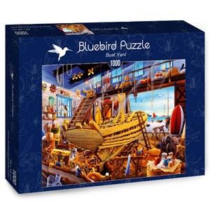 "Bluebird Puzzle (70316) - Hiroyuki: ""Boat Yard"" - 1000 pièces"