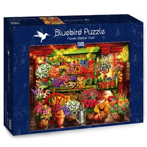 "Bluebird Puzzle (70333) - Ciro Marchetti: ""Flower Market Stall"" - 1000 pièces"