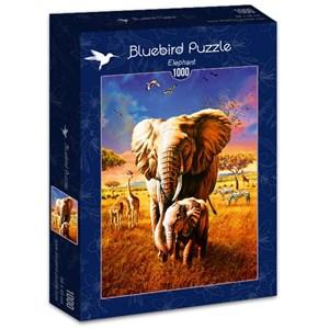 "Bluebird Puzzle (70314) - Adrian Chesterman: ""Elephant"" - 1000 pièces"