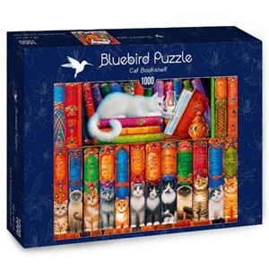 "Bluebird Puzzle (70344) - Randal Spangler: ""Cat Bookshelf"" - 1000 pièces"
