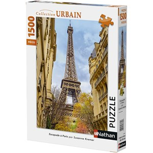 "Nathan (87784) - Susanne Kremer: ""Eiffel Tower, Paris"" - 1500 pièces"