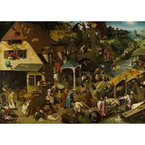 """D-Toys (73778-1) - Pieter Brueghel the Elder: """"Les Proverbes Flamands"""" - 1000 pièces"""