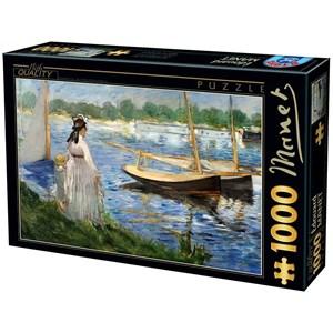 """D-Toys (74522) - Edouard Manet: """"Les Berges de la Seine à Argenteuil"""" - 1000 pièces"""