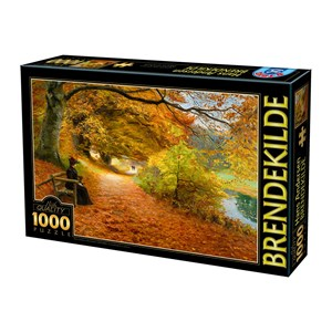 """D-Toys (75093) - H. A. Brendekilde: """"A Wooded Path in Autumn"""" - 1000 pièces"""