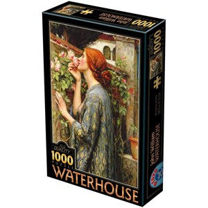 """D-Toys (75062) - John William Waterhouse: """"The Soul of the Rose"""" - 1000 pièces"""