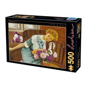 "D-Toys (73914) - Stefan Luchian: ""Lorica with Chrysanthemums"" - 500 pièces"