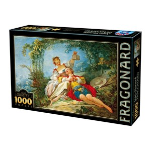 "D-Toys (74997) - Jean-Honoré Fragonard: ""Happy Lovers"" - 1000 pièces"