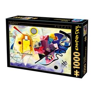 "D-Toys (75123) - Vassily Kandinsky: ""Jaune, Rouge, Bleu"" - 1000 pièces"