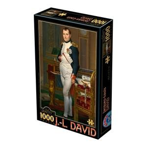 """D-Toys (75000) - Jacques-Louis David: """"Napoléon dans son Cabinet de Travail, 1812"""" - 1000 pièces"""