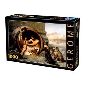 """D-Toys (75017) - Jean-Leon Gerome: """"Diogenes, 1860"""" - 1000 pièces"""