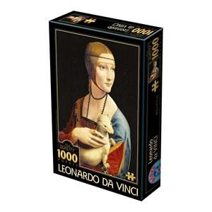 """D-Toys (74973) - Leonardo Da Vinci: """"La Dame à l'Hermine"""" - 1000 pièces"""