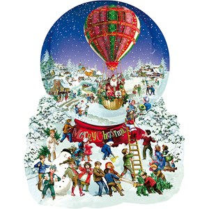 """SunsOut (96087) - Barbara Behr: """"Old Fashioned Snow Globe"""" - 1000 pièces"""