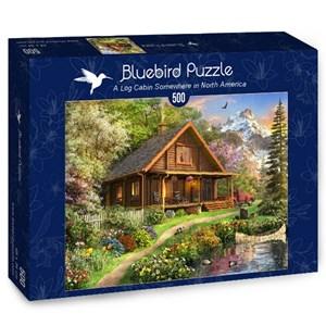 "Bluebird Puzzle (70118) - Dominic Davison: ""A Log Cabin Somewhere in North America"" - 500 pièces"