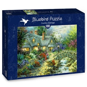 "Bluebird Puzzle (70064) - Nicky Boehme: ""Country Cottage"" - 1000 pièces"